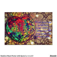 Rainbow Heart Poster with Quote