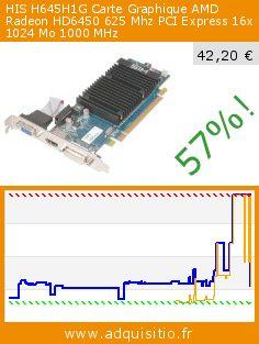 HIS H645H1G Carte Graphique AMD Radeon HD6450 625 Mhz PCI Express 16x 1024 Mo 1000 MHz (Personal Computers). Réduction de 57%! Prix actuel 42,20 €, l'ancien prix était de 97,47 €. http://www.adquisitio.fr/his/h645h1g-carte-graphique