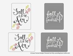 Free Fall Project Life Cards | laura frances design blog
