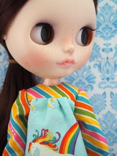 Now available again: Unicorn Blouse, every doll should have one.