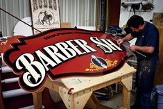 Starr Studios: Sign Painting Dallas Fort Worth- Over Years of Design, Hand Painted Signs, Gold Leafing, Lettering & Decor Painted Letters, Hand Painted Signs, Signage Design, Lettering Design, 3d Signage, Vinyl Printer, Barber Shop Decor, Sign Writing, Old Signs
