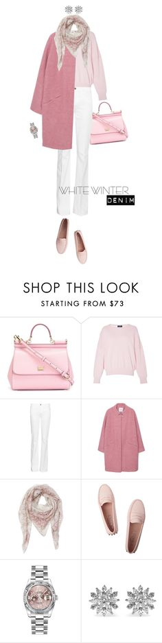 """White Winter Denim & Rose"" by maxfield ❤ liked on Polyvore featuring Dolce&Gabbana, Alena Akhmadullina, Frame Denim, MANGO, Etro, Tod's, Rolex and Kenneth Jay Lane"