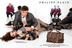 photo byTerry Richardson | Ed Westwick for Philipp Plein