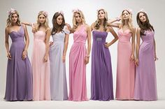 Kelsey rose bridesmaid dresses - now in stock at great prices! Mixed Bridesmaid Dresses, Beautiful Bridesmaid Dresses, Wedding Bridesmaids, Bridal Dresses, Kelsey Rose, Ellis Bridal, Inexpensive Wedding Dresses, Wedding Dress Shopping, Dress Wedding