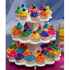 Decorate our 11 1/2 inch Cupcake Stand with fun colorful cupcakes. Use the cupcake stand in the center of you party tables as an edible centerpiece.