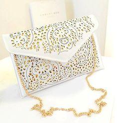 ebeaf7dfc3 Womens Laser Cut Envelope Clutch Bag #clutchesunlimited Borsa A Bustina,  Vogue Fashion, Borse