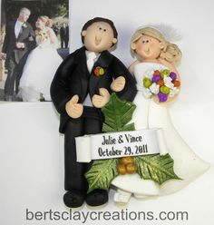 Custom Cake Toppers and First Christmas Ornaments as well as Engagement and Anniversaries! http://www.etsy.com/shop/BertsClayCreations