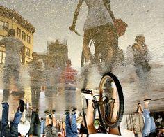 Reflections on a Rainy Day in New York…Union Square, NY (via Ira Fox)