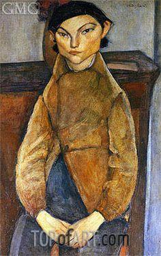 Young Gypsy,1909 | Modigliani | Private Collection