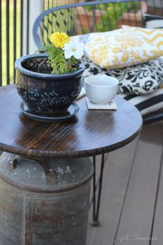 Antique Milk Can Side Table - girl. Inspired.