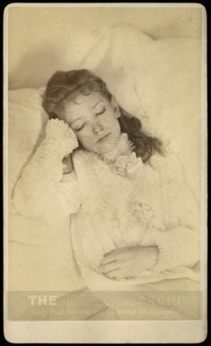 """The Sleeping beauty"" A young woman in the arms of death. Victorian Post Mortem / Death Photography"