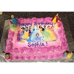 Disney princess cake! Disney Princess Birthday Cakes, Fairy Birthday Cake, Twin Birthday Cakes, Tea Party Birthday, 5th Birthday, Princess Crown Cake, Birthday Cake Decorating, Disney Cakes, Girl Cakes