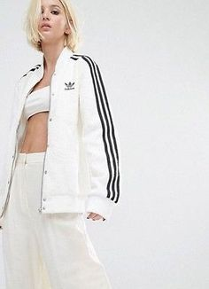 d00638196ee3 Details about RARE adidas Originals Women s BONDED FASHION COLLEGE JACKET  SMALL MED LAST1