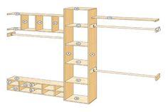 How to Build a Closet Organizer Diagram View more at http://www.contemporaryclosets.com #closet organization #nj #contemporary #organizers