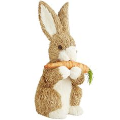 Natural Bunny with Carrot Easter Decor