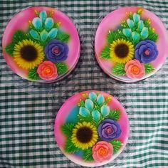 Flowers jelly art