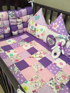 Купить Лоскутное одеяло,корзинка,буквы-подушки - комбинированный, одеяло детское, одеяло для новорожденного, балдахин
