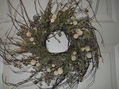 Dried Herbs and Everlastings Twig Wreath by woodlandherbgarden, $31.00