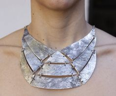 925 sterling silver choker pectoral Necklace made by aboutjewelry, $600.00