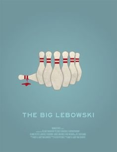 The Big Lebowski Minimal Movie Posters, Minimal Poster, Cinema Posters, Retro Posters, O Grande Lebowski, El Gran Lebowski, The Big Lebowski, Serial Art, Alternative Movie Posters