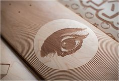 laser engraved skate decks by magnetic kitchen design Skateboard Design, Skateboard Decks, Wood Engraving, Custom Engraving, Gravure Laser, Skate Art, Skate Decks, Artist Portfolio, Branding