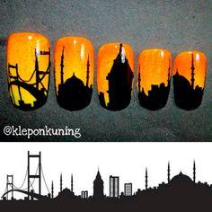 Istanbul nail art! Follow my instagram: kleponkuning