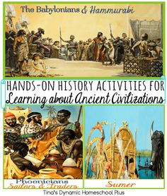 (Y2 Q1 W2) Hands-on History Activities for Learning about Ancient Civilizations. Making a connection to the past through hands-on learning keeps it fun.