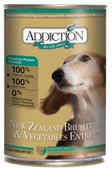 """Addiction Dog Food Recall of September 2016   DogFoodAdvisor   """"August 31, 2016 — Addiction Foods of Seattle, WA, has announced it is voluntarily recalling limited quantities of its New Zealand Brushtail and Vegetable and New Zealand Venison and Apple canned dog foods."""" Click to read more about this recall and share this important information."""