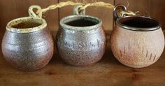 Hey, I found this really awesome Etsy listing at http://www.etsy.com/listing/159097441/wheel-thrown-wood-fired-hanging-pots