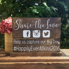 Oh SNaP Sign - SHaRe THe LoVe SiGn - HaShTaG Sign - Social Media Sign - PHoTo PRoP SiGn - Calligraphy Lettering - RuSTiC SiGn 10 x 7