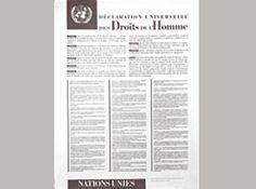 Déclaration universelle des droits de l'homme.  Le 10 décembre 1948, les 58 États Membres qui constituaient alors l'Assemblée générale ont adopté la Déclaration universelle des droits de l'homme à Paris au Palais de Chaillot.
