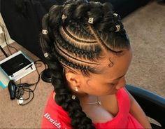 braid hairstyles bridesmaid Hair Tutorials - Amazing tutorials for goddess braids hairstyles - Braid African Braids Hairstyles, Ponytail Hairstyles, Quick Hairstyles, Updos, Wedding Hairstyles, Bridesmaid Hair Tutorial, Curly Hair Styles, Natural Hair Styles, Cute Hairstyles For Kids