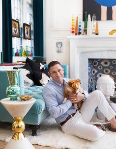 POP POTTER | Jonathan Adler at home in New York beside his Dora Maar vase