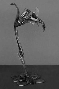 Отраженье ясных звезд в темной воде...(БГ) - Скульптуры из столовых приборов
