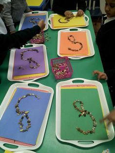 Arabic letter tray activities