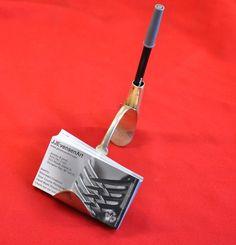 Spoon Business Card Holder With Pen Holder by jjevensen