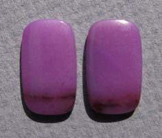 Designer Gel Sugilite Matched Cabochon Pair by dmargocr on Etsy