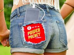 Vodafone Unveils Smartphone-Charging Shorts Just in Time for Festival Season
