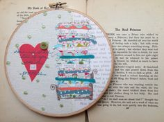 Embroidered Storybook Hoop-The Princess and by JKinnersleyTextiles