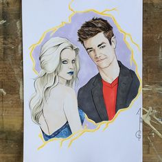 Grant Gustin Barry Allen  Danielle Panabaker Caitlin Snow - Killer Frost Flash Artwork, drawing, fanart, comics DC comics