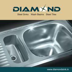 Uniquely crafted designs you can treasure! Explore the complete range @ www.diamondsink.in #SteelSink #DiamondSink #SteelKitchenSink #Sink #Kitchen #KitchenSinks