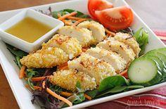 Coconut Chicken Salad with Warm Honey Mustard Vinaigrette — Punchfork