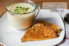 A simple recipe for DELICIOUS Cauliflower Soup! www.thekitchenwife.net