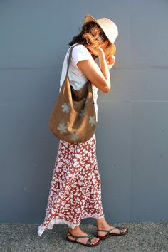 Chocolate Brown Suede 'Wanderer' Hobo Slouch Bag Purse - Perfect Size Bag