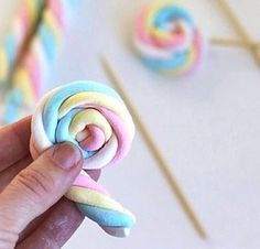 Pirulito de marshmallow