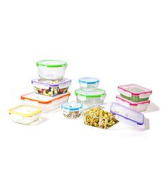 Love this 10-Piece Glass Food Storage Set by Premier Kitchen Products on #zulily! #zulilyfinds