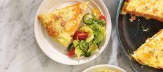 Υπέροχη ομελέτα με γλυκοπατάτα, ζαμπόν και τυριά