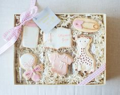 A gift for a new baby girl. _ #SweetKiera #skcookies