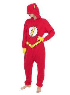 "This adult onesie that you'll definitely want to curl up in while binge watching or reading The Flash. | 29 Products You Need If You're Obsessed With ""The Flash"""