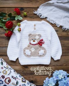 Baby Boy Knitting Patterns, Baby Sweater Knitting Pattern, Knitting For Kids, Crochet For Kids, Baby Patterns, Crochet Patterns, Knitted Baby Clothes, Crochet Clothes, Cute Outfits For Kids